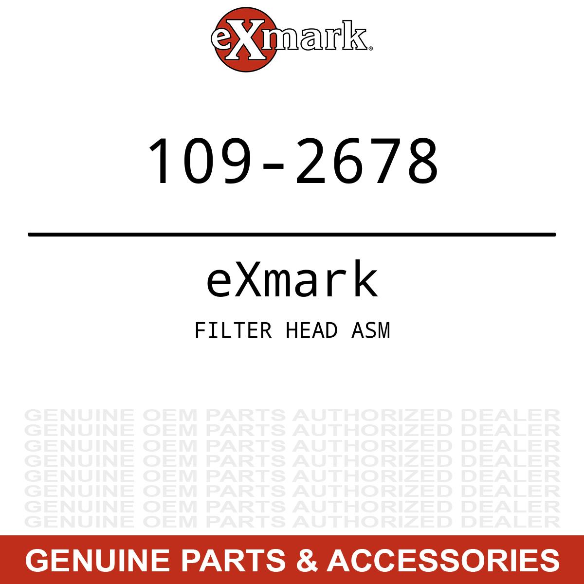 Genuine Exmark Toro FILTER HEAD ASM 109-2678
