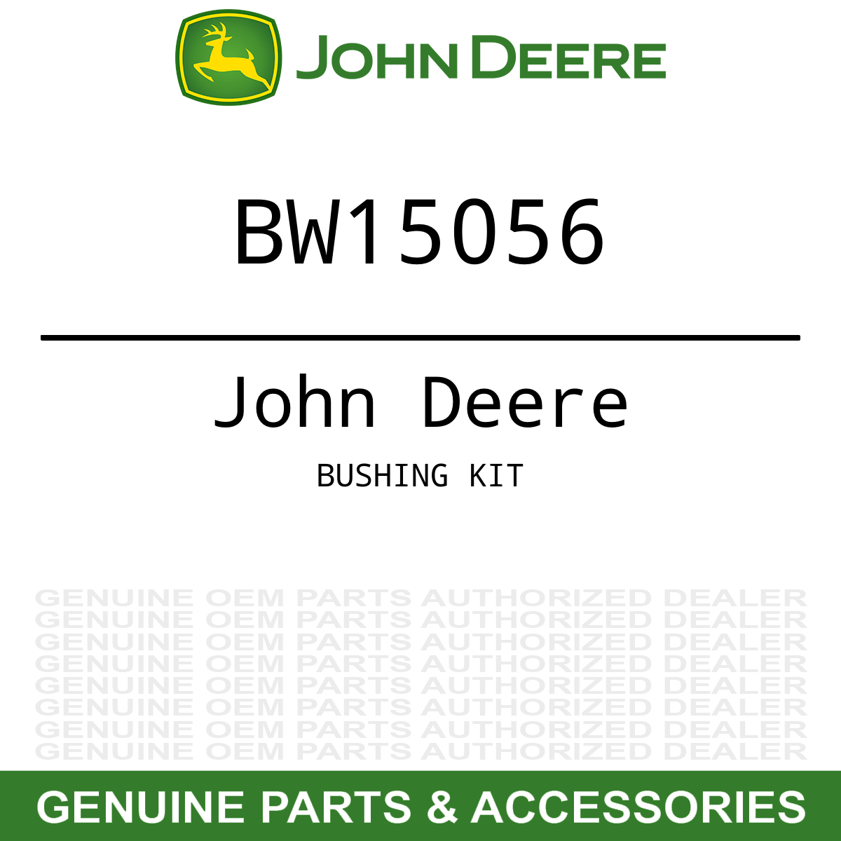 John Deere D160 Wiring Harness Simple Diagram Oem Loader Ballast Extension Bushing Kit D120 D170 Lawn Mower Manuals
