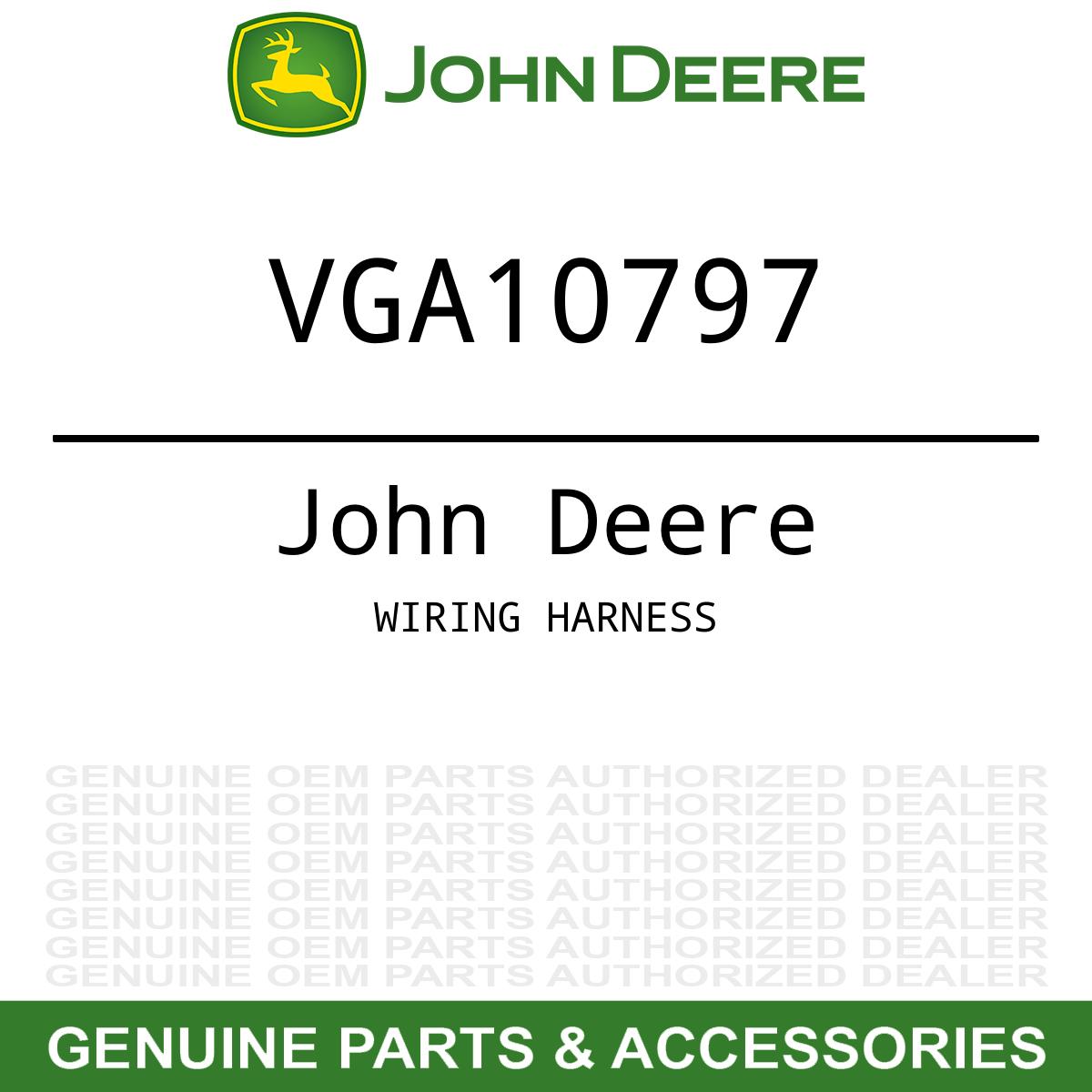 OEM Wiring Harness John Deere Gator Utility Vehicle Trail HPX 4X2 4X4  VGA10797