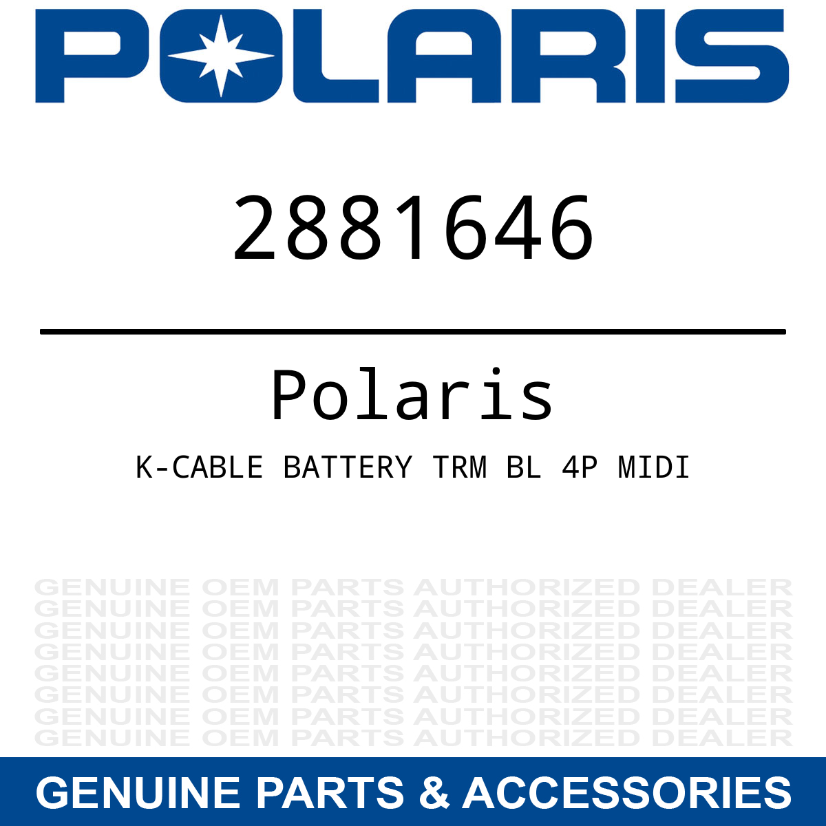 Rzr Busbar Wiring Harness Solutions Polaris Oem Battery Cable Accessory 4 Xp